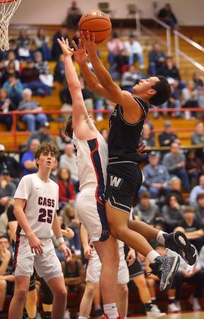 2-14-20<br /> Cass vs Western boys basketball<br /> Western's Nathaniel Liddell puts up a shot.<br /> Kelly Lafferty Gerber | Kokomo Tribune