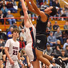 2-14-20<br /> Cass vs Western boys basketball<br /> Western's Nathaniel Liddell puts up a shot.<br /> Kelly Lafferty Gerber | Kokomo Tribune