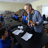 Gary Rhum teaches a ukulele class at Sts. Joan of Arc and Patrick School on February 26, 2020.<br /> Tim Bath | Kokomo Tribune