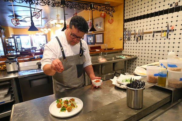 Marcus Daniel from Joseph Decuis Restaurant in Roanoke on February 6, 2020.<br /> Tim Bath | Kokomo Tribune