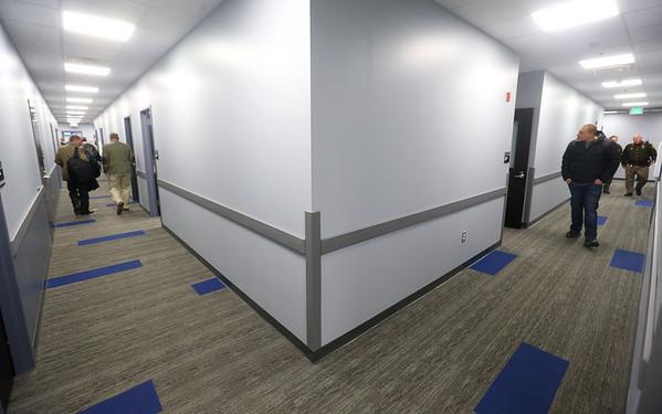 Hallways on the administration side of the new Tipton jail on Thursday, Feb. 20, 2020.<br /> Kelly Lafferty Gerber | Kokomo Tribune