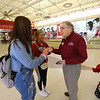 Six Primrose Retirement Community residents handed out Hershey bars and Amazon gift cards at IUK on Monday February 17, 2020. <br /> Tim Bath | Kokomo Tribune