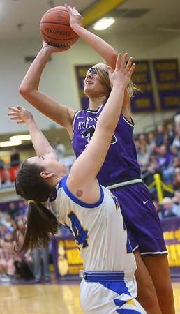 2-15-20<br /> Northwestern vs Homestead girls basketball regional championship<br /> Madison Layden shoots.<br /> Kelly Lafferty Gerber | Kokomo Tribune