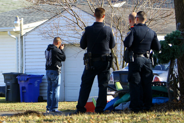 Kokomo Police investigate a shooting at 607 East North Street on Sunday afternoon February 23, 2020.<br /> Tim Bath | Kokomo Tribune
