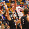 2-14-20<br /> Cass vs Western boys basketball<br /> Cass' Austin Holt puts up a shot.<br /> Kelly Lafferty Gerber | Kokomo Tribune