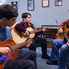 Gary Rhum works with and jams with his sons Levi, 12, and Eberson, 10, on February 25, 2020.<br /> Tim Bath | Kokomo Tribune