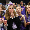 IHSAA 4A Girls Girls Basketball State Finals with Northwestern loosing to Lewrence North on February 29, 2020. Lauren Martin, Avery Rooze, Rebecca Lagoni and Aubrey Evilsizer watch as Northwestern fall behind early in the game.<br /> Tim Bath | Kokomo Tribune