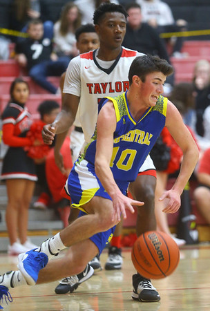 2-28-20<br /> Taylor vs Tri-Central boys basketball<br /> <br /> Kelly Lafferty Gerber | Kokomo Tribune