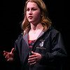 Makinzie France, Distinguished Young Woman of Miami County, gives a speech about being the only girl on North Miami's swim team, a program she started. Distinguished Young Women of Indiana kicked off its 2020 program on Thursday, Feb. 13 at Havens Auditorium at IUK.<br /> Kelly Lafferty Gerber | Kokomo Tribune