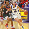 2-15-20<br /> Northwestern vs Fishers girls basketball regional semi-final<br /> Madison Layden takes the ball down the court.<br /> Kelly Lafferty Gerber | Kokomo Tribune