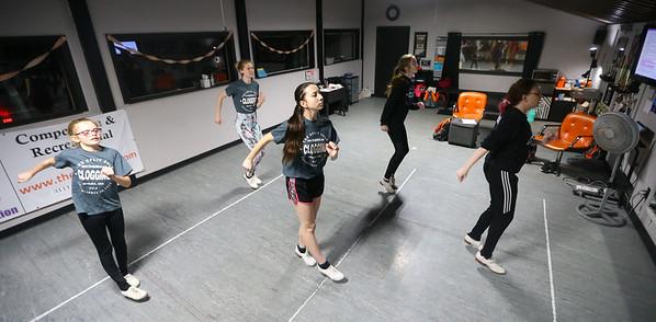 The Split Sole Cloggers learn a new routine during class on Saturday, Feb. 7, 2020.<br /> Kelly Lafferty Gerber | Kokomo Tribune