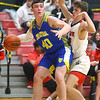 2-28-20<br /> Taylor vs Tri-Central boys basketball<br /> Tri-Central's Mason Pickens looks to the basket.<br /> Kelly Lafferty Gerber | Kokomo Tribune