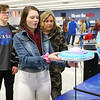 "Sophomore Kylie Lewis, center, talks about her project, ""Galaxy Collision,"" to Karsen Huffman, left, and Stacy Stevens during the Kokomo High School International Baccalaureate Middle Years Program's Personal Project Showcase on Feb. 27, 2020.<br /> Kelly Lafferty Gerber 