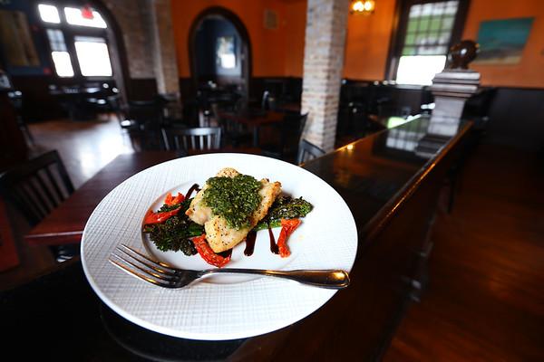 Blake Kinder, chef at Marble Steakhouse making a grouper dish on February 13, 2020.<br /> Tim Bath | Kokomo Tribune