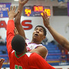 2-21-20<br /> Kokomo vs Anderson boys basketball<br /> Kokomo's Patrick Hardimon puts up a shot.<br /> Kelly Lafferty Gerber | Kokomo Tribune