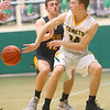 2-18-20<br /> Eastern vs Alexandria boys basketball<br /> Karson West makes a pass.<br /> Kelly Lafferty Gerber | Kokomo Tribune