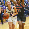 2-15-20<br /> Northwestern vs Fishers girls basketball regional semi-final<br /> Klair Merrell looks to the basket.<br /> Kelly Lafferty Gerber | Kokomo Tribune