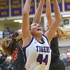 2-15-20<br /> Northwestern vs Fishers girls basketball regional semi-final<br /> Kendall Bostic pulls down a rebound.<br /> Kelly Lafferty Gerber | Kokomo Tribune