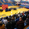 "The late Jimmy Rayl's former basketball teammates, coaches, friends and family joined together for a special ceremony inside Memorial Gym on Thursday, Feb. 6, when the City of Kokomo announced the honorary renaming of West Superior Street leading to Memorial Gym ""Jimmy Rayl Boulevard.""<br /> Kelly Lafferty Gerber 