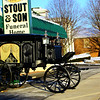 Funeral for Jeff Stout with the procession through Russiaville past Stout and Sons Funeral Home and Russiaville Fire Depatment on February 14, 2020.<br /> Tim Bath   Kokomo Tribune