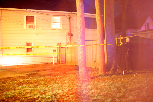 Kokomo Police were dispatched to 703 South Courtland for a victim of a shooting at 6:39 p.m. The caller stated that he heard gunshots before finding the victim inside a privacy fence outside of the back apartment next to the alley.<br /> Tim Bath | Kokomo Tribune