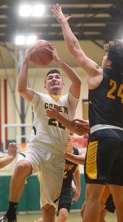 2-18-20<br /> Eastern vs Alexandria boys basketball<br /> Ethan Wilcox puts up a shot.<br /> Kelly Lafferty Gerber | Kokomo Tribune