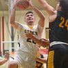 2-18-20<br /> Eastern vs Alexandria boys basketball<br /> Ethan Wilcox puts up a shot.<br /> Kelly Lafferty Gerber | Kokomo Tribune
