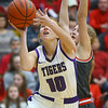2-15-20<br /> Northwestern vs Fishers girls basketball regional semi-final<br /> Klair Merrell puts up a shot.<br /> Kelly Lafferty Gerber | Kokomo Tribune