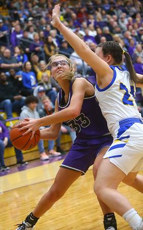 2-15-20<br /> Northwestern vs Homestead girls basketball regional championship<br /> Madison Layden heads to the basket.<br /> Kelly Lafferty Gerber | Kokomo Tribune