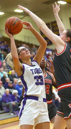 2-15-20<br /> Northwestern vs Fishers girls basketball regional semi-final<br /> Madison Layden puts up a shot.<br /> Kelly Lafferty Gerber | Kokomo Tribune