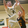 2-18-20<br /> Eastern vs Alexandria boys basketball<br /> Ethan Wilcox shoots.<br /> Kelly Lafferty Gerber | Kokomo Tribune