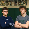 2-20-20<br /> Eastern wrestlers Brodie Porter, left, and Tytus Morrisett.<br /> Kelly Lafferty Gerber | Kokomo Tribune