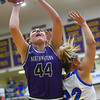2-15-20<br /> Northwestern vs Homestead girls basketball regional championship<br /> Kendall Bostic shoots.<br /> Kelly Lafferty Gerber | Kokomo Tribune