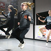 10-year-old Emmara Gibbs, center, learns a new routine alongside 15-year-old Katie Waitt, left, and 13-year-old Ellie Mae Catron, right, during a Split Sole Clogging Connection class on Saturday, Feb. 7, 2020.<br /> Kelly Lafferty Gerber | Kokomo Tribune