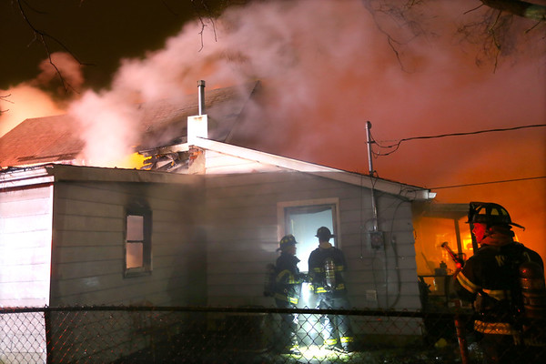 Kokomo Firefighers battle a house fire at 1809 North Indiana in the early morning hours of February 25, 2020. The structure was a total loss.<br /> Tim Bath   Kokomo Tribune