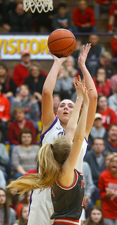 2-15-20<br /> Northwestern vs Fishers girls basketball regional semi-final<br /> Kendall Bostic puts up a shot.<br /> Kelly Lafferty Gerber   Kokomo Tribune