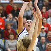 2-15-20<br /> Northwestern vs Fishers girls basketball regional semi-final<br /> Kendall Bostic puts up a shot.<br /> Kelly Lafferty Gerber | Kokomo Tribune