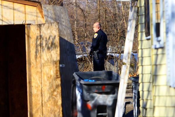 Kokomo Police investigate a shooting at 607 East North Street on Sunday afternoon February 23, 2020.<br /> Tim Bath | Kokomo Tribune