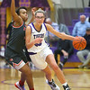 2-15-20<br /> Northwestern vs Fishers girls basketball regional semi-final<br /> Madison Layden heads down the court.<br /> Kelly Lafferty Gerber | Kokomo Tribune