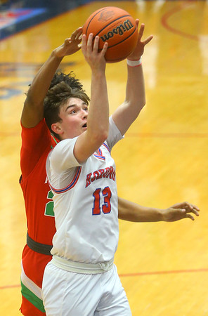 2-21-20<br /> Kokomo vs Anderson boys basketball<br /> Kokomo's Bobby Wonnell puts up a shot.<br /> Kelly Lafferty Gerber | Kokomo Tribune