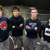 Western wrestlers from left: Braydon Erb, Hayden Shepherd, Hunter Cottingham and Anthony Martin on Feb. 19, 2020.<br /> Kelly Lafferty Gerber | Kokomo Tribune