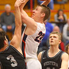 2-14-20<br /> Cass vs Western boys basketball<br /> Cass' Tyson Johnson shoots.<br /> Kelly Lafferty Gerber | Kokomo Tribune