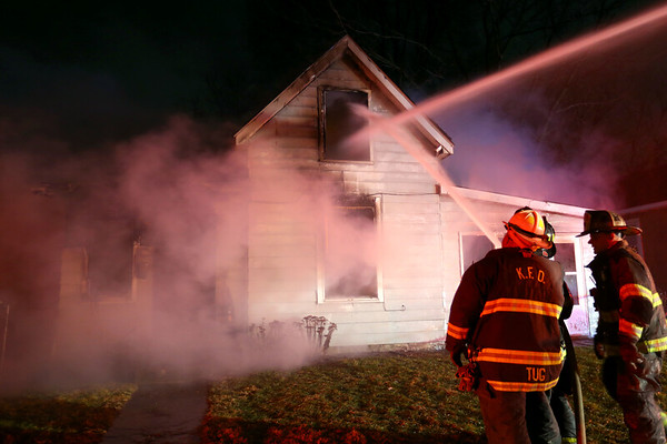 Kokomo Firefighers battle a house fire at 1809 North Indiana in the early morning hours of February 25, 2020. The structure was a total loss.<br /> Tim Bath | Kokomo Tribune