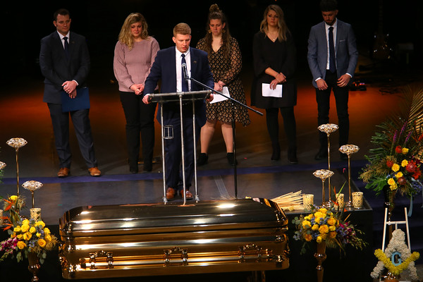 Funeral for Jeff Stout at Crossroads Community Church on February 14, 2020.<br /> Tim Bath | Kokomo Tribune