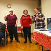 "From left: Gwendolyn Parker, Janis Rister, Cari Walker, and Melissa Wheelock karaoke ""Girls Just Wanna Have Fun"" during Galentine's Day at Kokomo-Howard County Public Library's South branch on Thursday, Feb. 13, 2020.<br /> Kelly Lafferty Gerber 