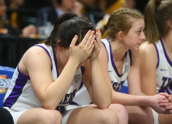 2-29-20<br /> Northwestern falls to Lawrence North 59-46 in the girls basketball 4A state final.<br /> Kelly Lafferty Gerber | Kokomo Tribune