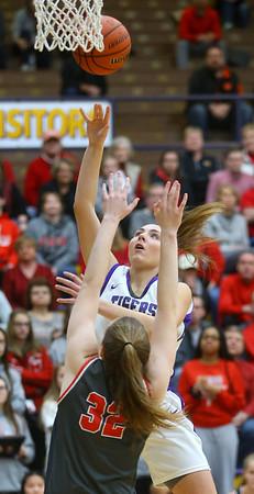 2-15-20<br /> Northwestern vs Fishers girls basketball regional semi-final<br /> Kendall Bostic shoots.<br /> Kelly Lafferty Gerber | Kokomo Tribune