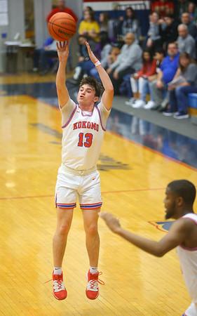 2-21-20<br /> Kokomo vs Anderson boys basketball<br /> Kokomo's Bobby Wonnell puts up a three pointer.<br /> Kelly Lafferty Gerber | Kokomo Tribune