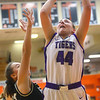 2-22-20<br /> Northwestern vs Penn girls basketball semistate<br /> NW's Kendall Bostic puts up a shot.<br /> Kelly Lafferty Gerber | Kokomo Tribune