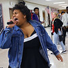 Kokomo High School students dresses a famous musicians during lunch hour for Black History Month on February 26, 2020. Mackenzie Martin doing her impression of Tina Turner.<br /> Tim Bath | Kokomo Tribune
